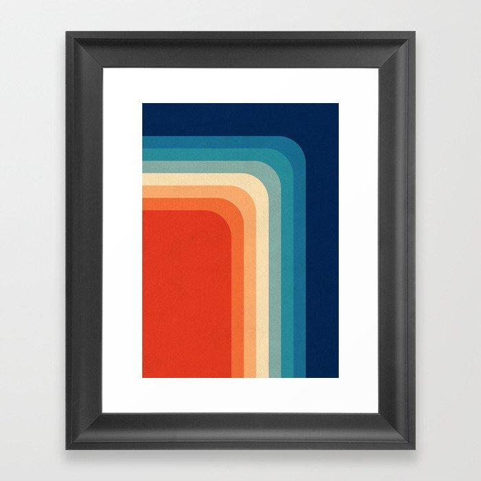 Retro 70s Color Palette III Gerahmter Kunstdruck