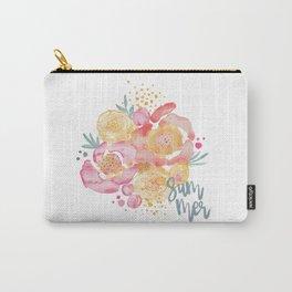 Summer Garden Bouquet - Watercolor Flowers Carry-All Pouch
