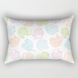 Cat Blobs Cats Rectangular Pillow