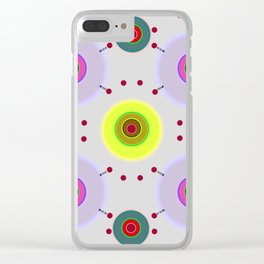 Colored discs with dots Clear iPhone Case