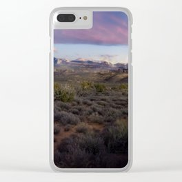Dusk at Arches National Park Moab, UT Clear iPhone Case