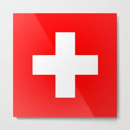 flag of Switzerland Metal Print