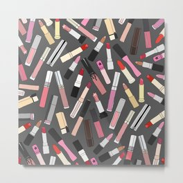 Lipstick Party - Dark Metal Print