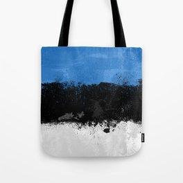 Estonia Flag Grunge Tote Bag