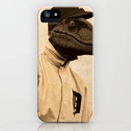 Baseball Velociraptor iPhone Case