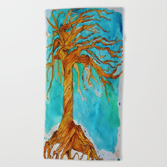 Tree of Life (Saturated Coloring) Beach Towel