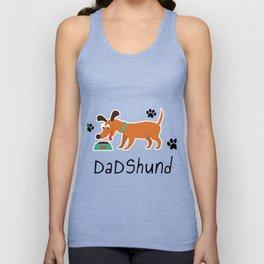 DadShund Dachshund Dad Funny Love Dog Pet Gift Unisex Tank Top