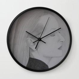 Meryl Streep Profile Wall Clock