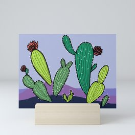 Cactus farm #1 Mini Art Print