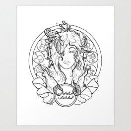 Zodiac Series   Aquarius Art Print