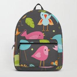 Birds - Gray Backpack