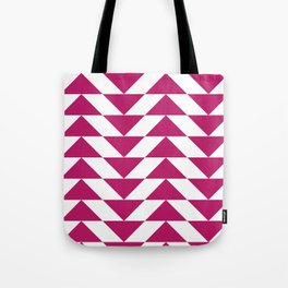 Fuschia Triangle Tote Bag