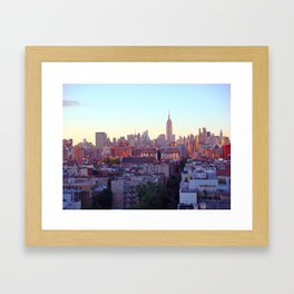 Empire State Building and the New York Skyline Framed Art Print