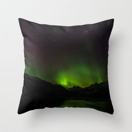 Northern Lights in Norway 01 Throw Pillow