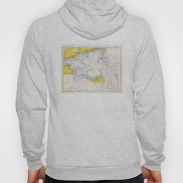 Vintage Map of The Nantucket Sound (1966) Hoody