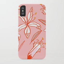 Lilies Warm iPhone Case