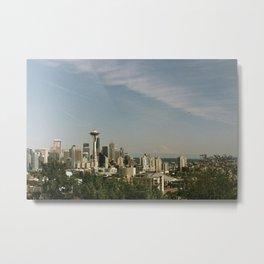 Postcard Seattle Metal Print