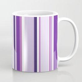 Lilac and Mauve Purple Stripes Coffee Mug