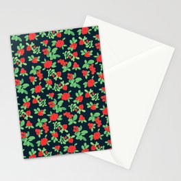 Lingonberry (on Navy) Stationery Cards