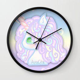 Kawaii  Chibi Unicorn Wall Clock