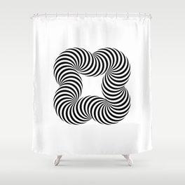 Optical illusive infinity Shower Curtain