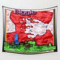 biggie Wall Tapestries featuring Biggie by KEVIN CURTIS BARR'S ART OF FAMOUS FACES