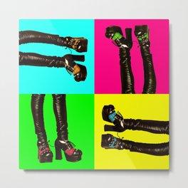 Pop Art. Feet. Metal Print