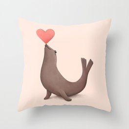 Seal of Approval Throw Pillow
