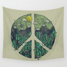 Peaceful Landscape Wall Tapestry