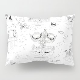 New Orleans Toile Pillow Sham
