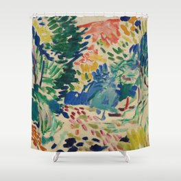 Landscape at Collioure - Henri Matisse - Exhibition Poster Shower Curtain