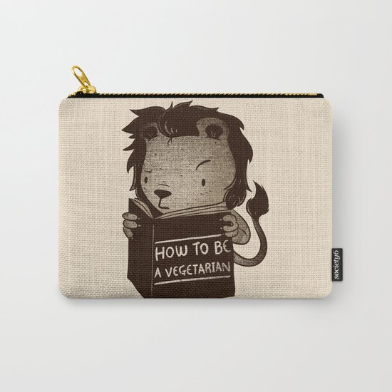 Lion Book How To Be Vegetarian Carry-All Pouch