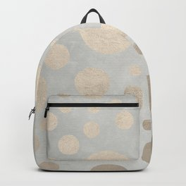 Champagne Gold Dots Pattern on Old Metal Texture Backpack