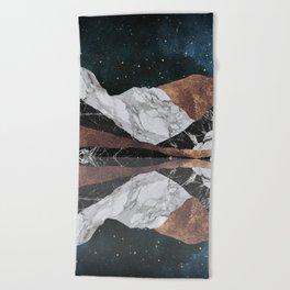 Landscape Mountains Beach Towel