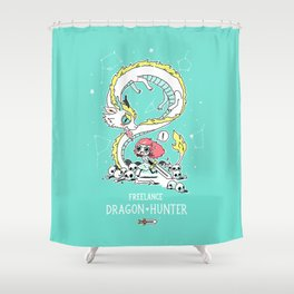 Dragon Hunter Shower Curtain