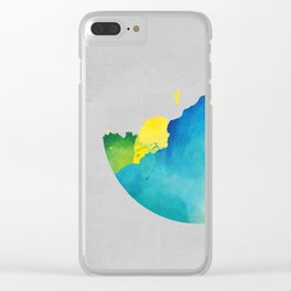 calm colourful atmosphere Clear iPhone Case