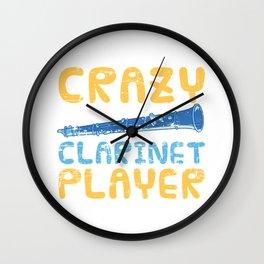 Crazy Clarinet Player Wall Clock