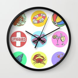 Beach Day Collection 2 Wall Clock