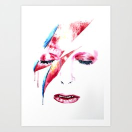David Bowie - Alladin Sane - by Emma Parrish Art Print