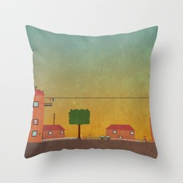 Hometown Scene Throw Pillow
