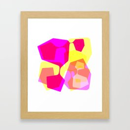 Techno dudes yellow Framed Art Print