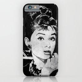 Miss Golightly - black iPhone Case