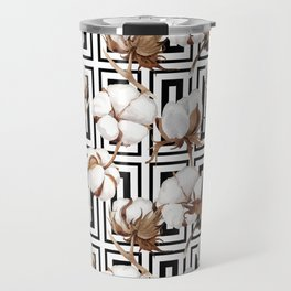 Cotton Flower Pattern 08 Travel Mug