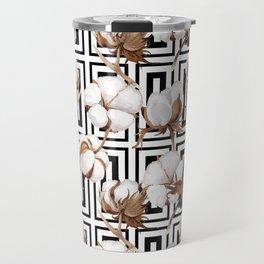 Cotton Flower Pattern 08 Travel Mug