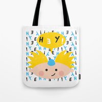 arnold Tote Bags featuring Hey! Arnold by Carly Watts