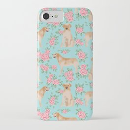 Yellow Labrador Retriever dog breed pet portraits floral dog pattern gifts for dog lover iPhone Case