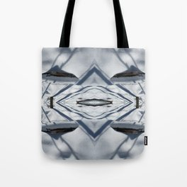 Snow Lines Tote Bag