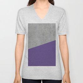 Concrete with Ultra Violet Color Unisex V-Neck