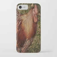 vermont iPhone & iPod Cases featuring Vermont Rooster by Deborah Benoit