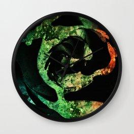 Black acrylic Rose splashes texture Wall Clock